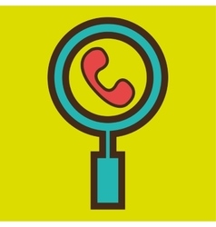 symbol telephone call communication vector image