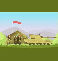 us army soldier with gun in uniform cartoon vector image vector image