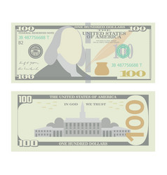 100 dollars banknote cartoon us urrency vector