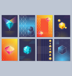 3d wallpapers with figures vector image