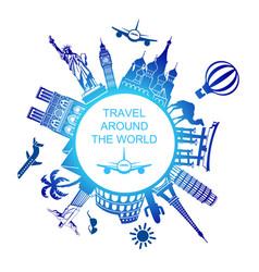A symbol travels around world vector