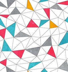Abstract color triangle seamless pattern vector