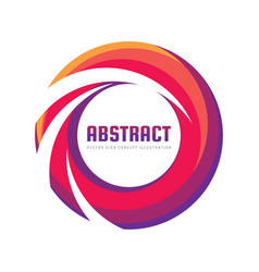 abstract colored ring - logo template vector image