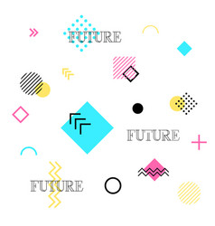 abstract geometric background future patterns vector image