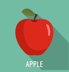 Apple icon flat style vector