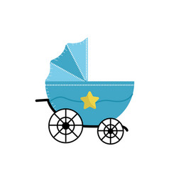 Baby strolle that used to transportation vector