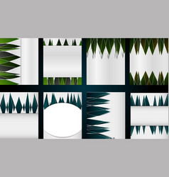 Big set of different types of templates for cover vector