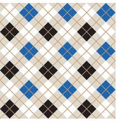 black and blue argyle harlequin seamless pattern vector image