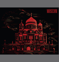 Black-red moscow-10 vector