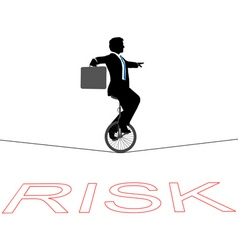 Business man rides a unicycle vector