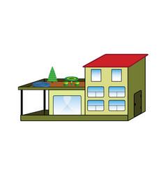 cartoon color villa vector image