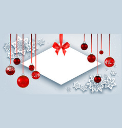 christmas banner and snow vector image
