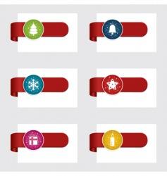 Christmas tabs vector image vector image