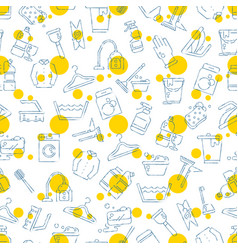 cleaning washing housework seamless pattern vector image