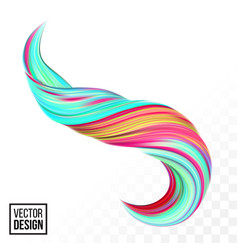 color paint 3d wave twist green background vector image