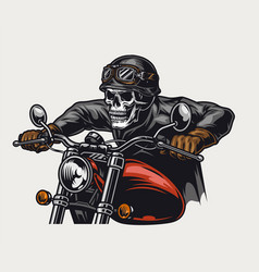 colorful motorcycle vintage concept vector image