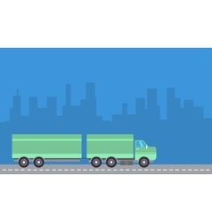 Container truck with blue backgrounds vector