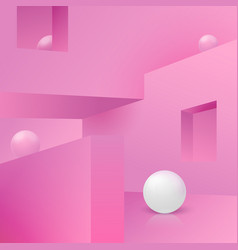 Corner wall abstract scene with podium vector