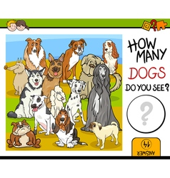 Counting game with dogs vector