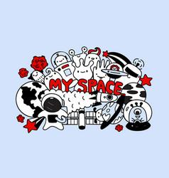 cute monsters my space vector image