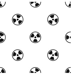 danger nuclear pattern seamless black vector image