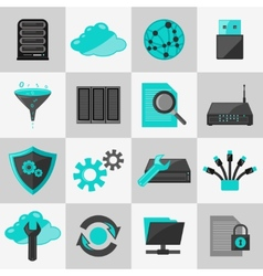 Database icons flat vector image
