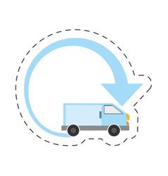 Delivery van transport international vector