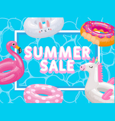 discount season summer sale inflatable rings vector image