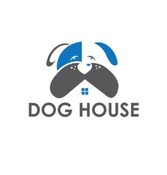 dog house design template vector image