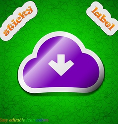 Download from cloud icon sign Symbol chic colored vector image