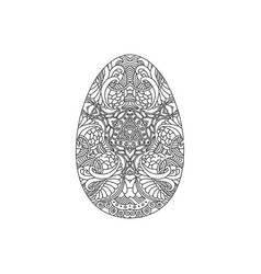 egg shaped ornament vector image