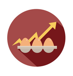 eggs poultry product up arrow rising food prices vector image