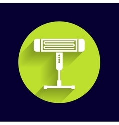 Electric heater light icon vector