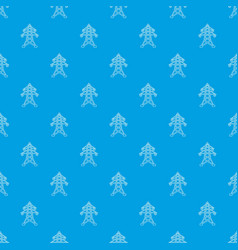 Electric pole pattern seamless blue vector