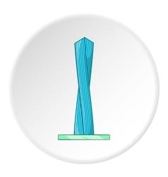 Emirates tower icon cartoon style vector image