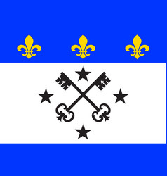 Flag of lisieux in calvados of normandy is a vector