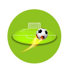 flying football shooting at goal vector image