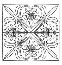 Greek square panel is a entrance to acropolis vector