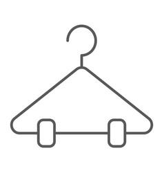 Hanger thin line icon closet and wardrobe rack vector