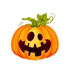 Happy halloween funny jack o lantern vector
