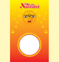 Happy navratri festival poster design vector