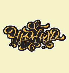 Hip hop golden artistic custom old fashioned vector