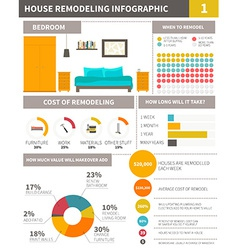 Infographic about remodeling home - file organized vector image