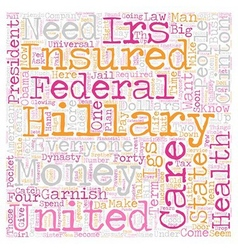 IRS Welcomes Hillary s IGS text background vector