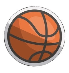 Isolated ball of basketball design vector