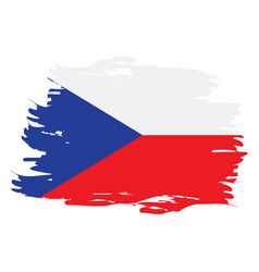 isolated czech flag vector image