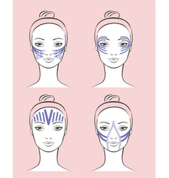 kinesiology therapeutic beauty taping vector image