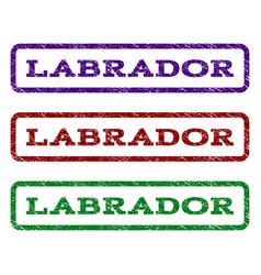 Labrador watermark stamp vector