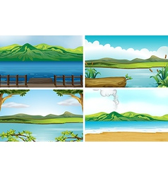 Lakes vector image