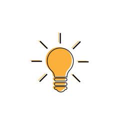 light bulb line icon idea sign solution vector image